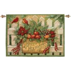 Happy Holiday Fine Art Tapestry