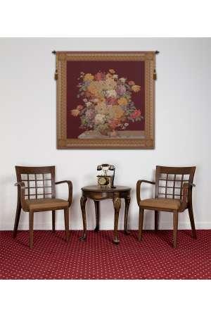 Elegant Masterpiece Wine Square European Tapestry