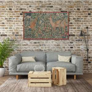 Pheasant and Doe French Tapestry