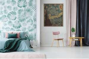 Van Gogh's Starry Night Mini European Tapestry Wall Hanging
