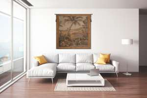 L'Oasis Carre Square French Tapestry