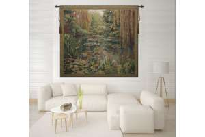Monet's Garden 3 Large with Border Flanders Tapestry Wall Hanging