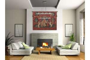 Le Desir Fonce Belgian Tapestry Wall Hanging