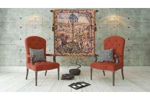 Old Brussels Flanders Vertical Flanders Tapestry Wall Hanging