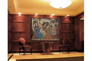 Adoration Palla Strozzi Italian Tapestry Wall Hanging