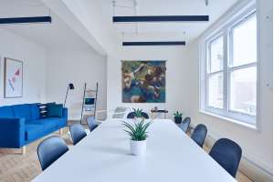 Blue Dancers Belgian Tapestry Wall Hanging