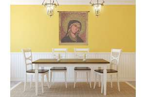 Madonna Di Montegergine Italian Tapestry