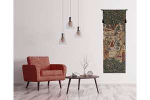 Vendage Portiere, Left Side Small European Tapestry Wall Hanging