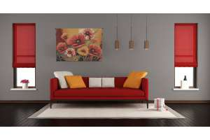Poppies III European Tapestry Wall Hanging