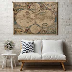 Planisfero Italian Tapestry Wall Hanging
