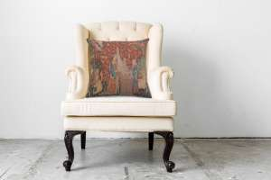 The Hearing 1 Small Decorative Tapestry Pillow