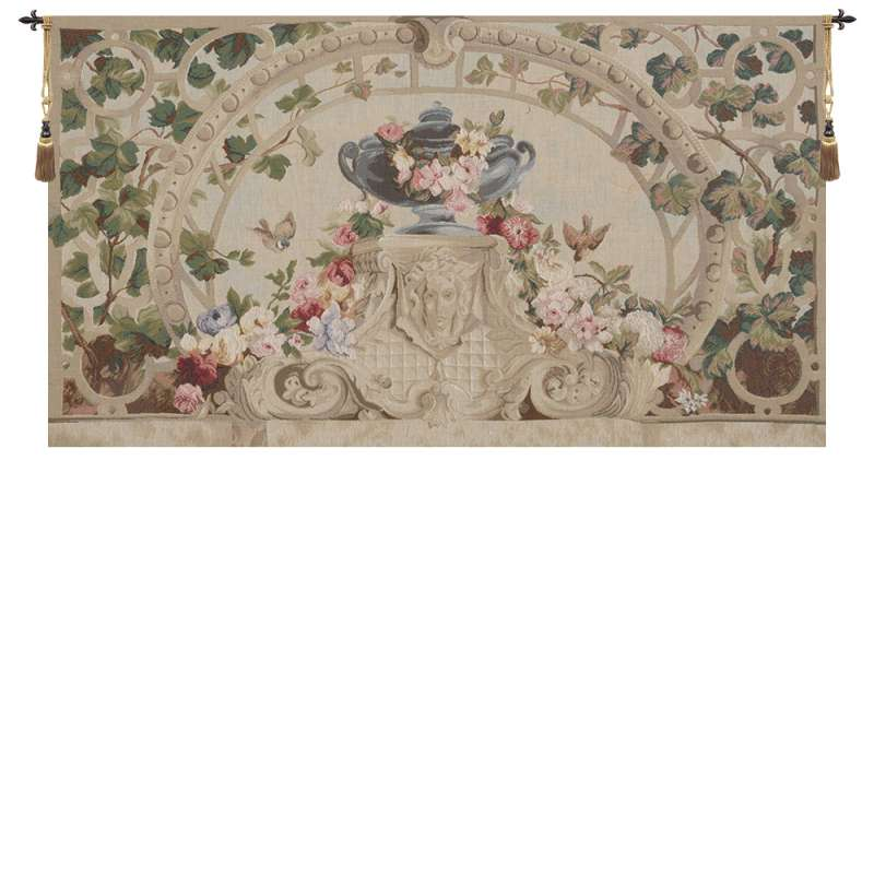 Beauvais Green Leaves No Border French Tapestry