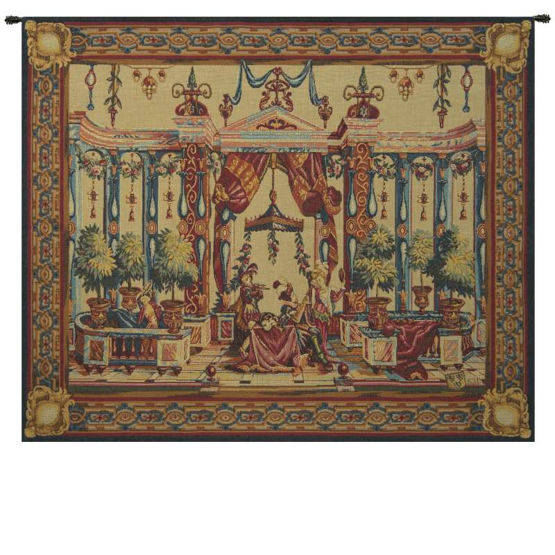 Les Baladins French Tapestry Wall Hanging