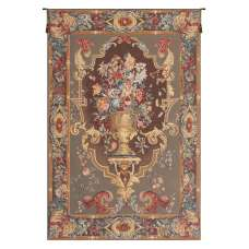 Bouquet Imperial Taupe French Tapestry Wall Hanging