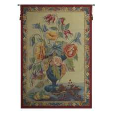 Bouquet de Fleurs Creme French Tapestry Wall Hanging