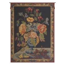 Bouquet de Fleurs Bleu French Tapestry Wall Hanging