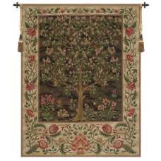 Tree of Life Brown II European Tapestry