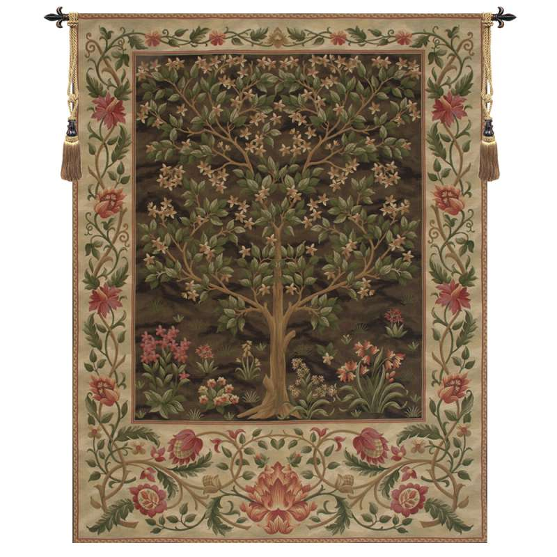 Tree of Life Brown II European Tapestry