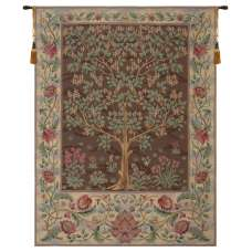 Tree of Life Brown III European Tapestry
