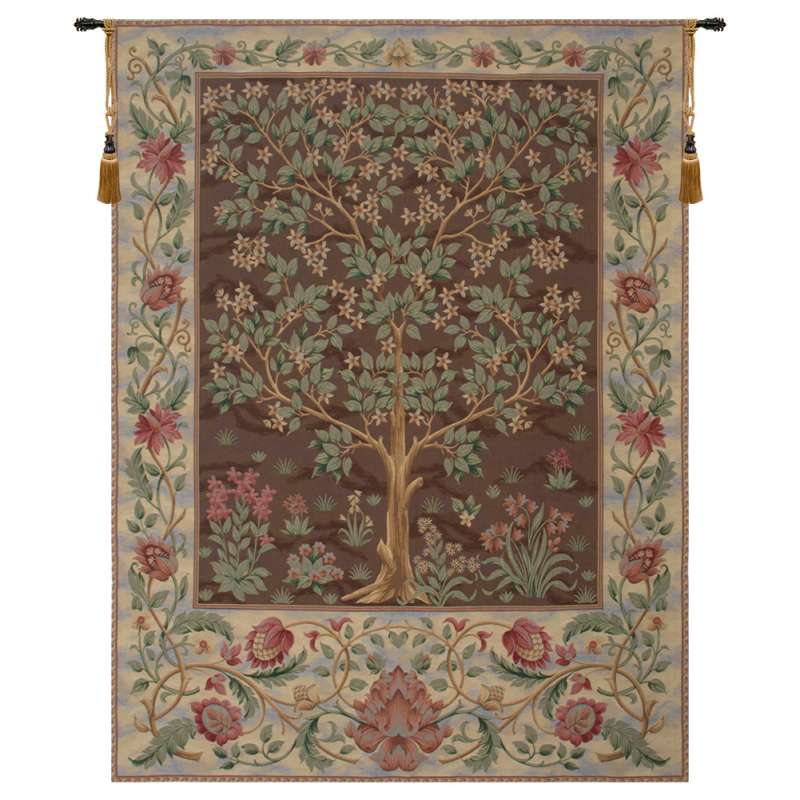 Tree of Life Brown III European Tapestry