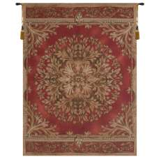 Les Rosaces in Red French Tapestry