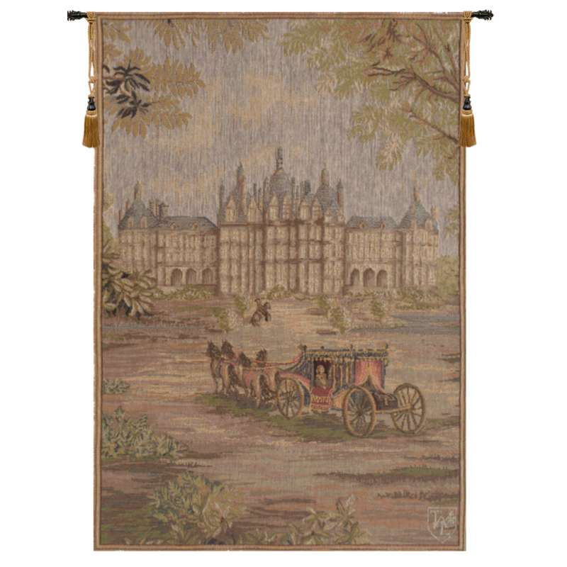 Verdure Chateau Carriage French Tapestry
