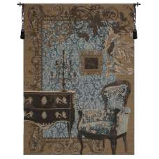 Mobilier Louis XVI Blue French Tapestry Wall Hanging