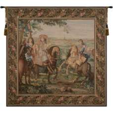 La Prise de Lille Square French Tapestry