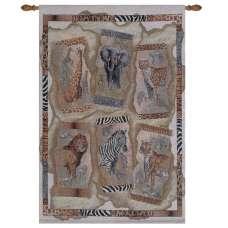 Safari Animals Fine Art Tapestry