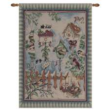 There's Snow Place Like Home Fine Art Tapestry