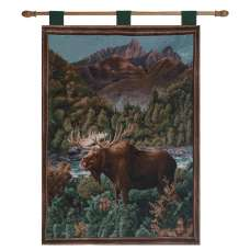 Moose Lake  Fine Art Tapestry