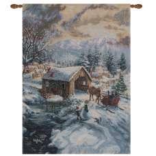 Covered Bridge Fine Art Tapestry