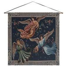 Angels on High Dark Fine Art Tapestry