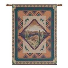 Southwest Lizards II Fine Art Tapestry