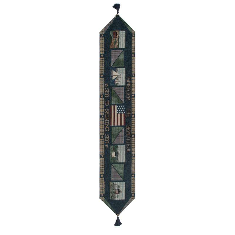 America The Beautiful I Tapestry Table Runner