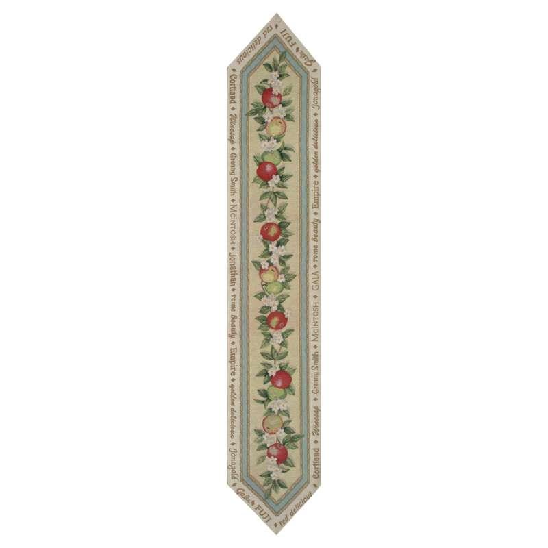 Granny Smith Apples Tapestry Table Runner