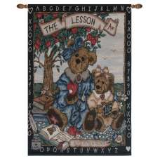 The Lesson Fine Art Tapestry