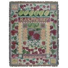 Raspberry Tapestry Throw