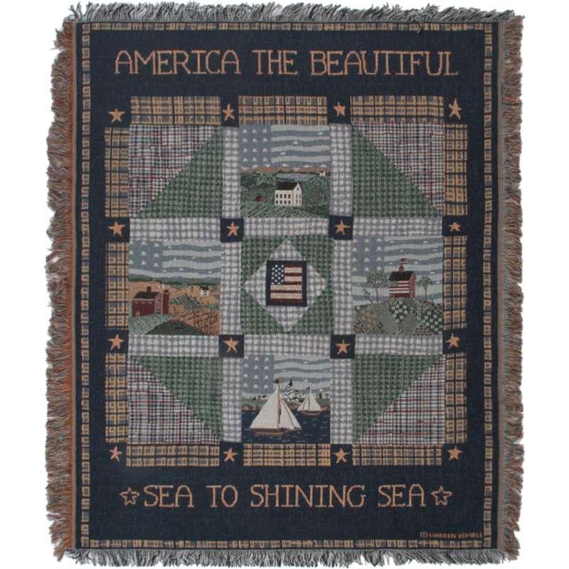 America The Beautiful II Tapestry Throw