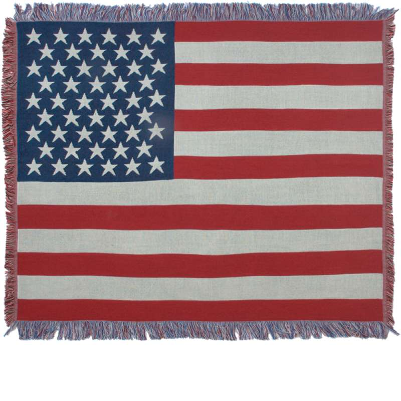 American Flag II Tapestry Throw