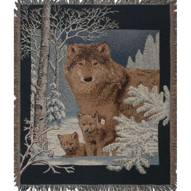 Wolf Family Tapestry Throw