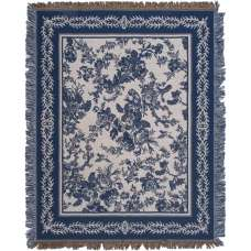Blue Ensemble Tapestry Throw