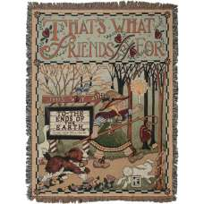 That's What Friends Are For Tapestry Throw