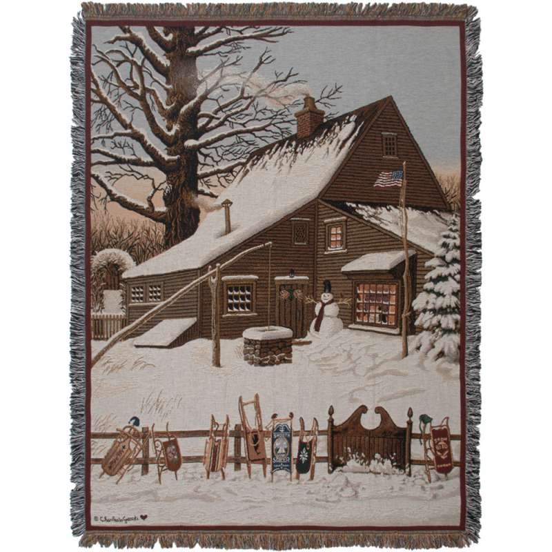 Cocoa Break at the Copperfields II Tapestry Throw