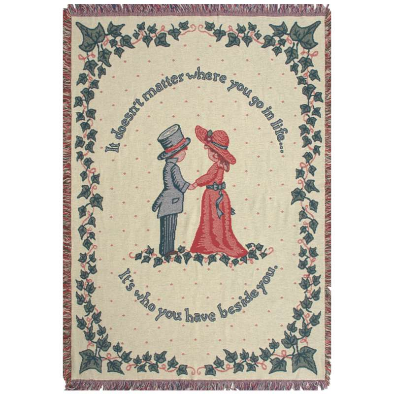 It Doesn't Matter Where Tapestry Throw