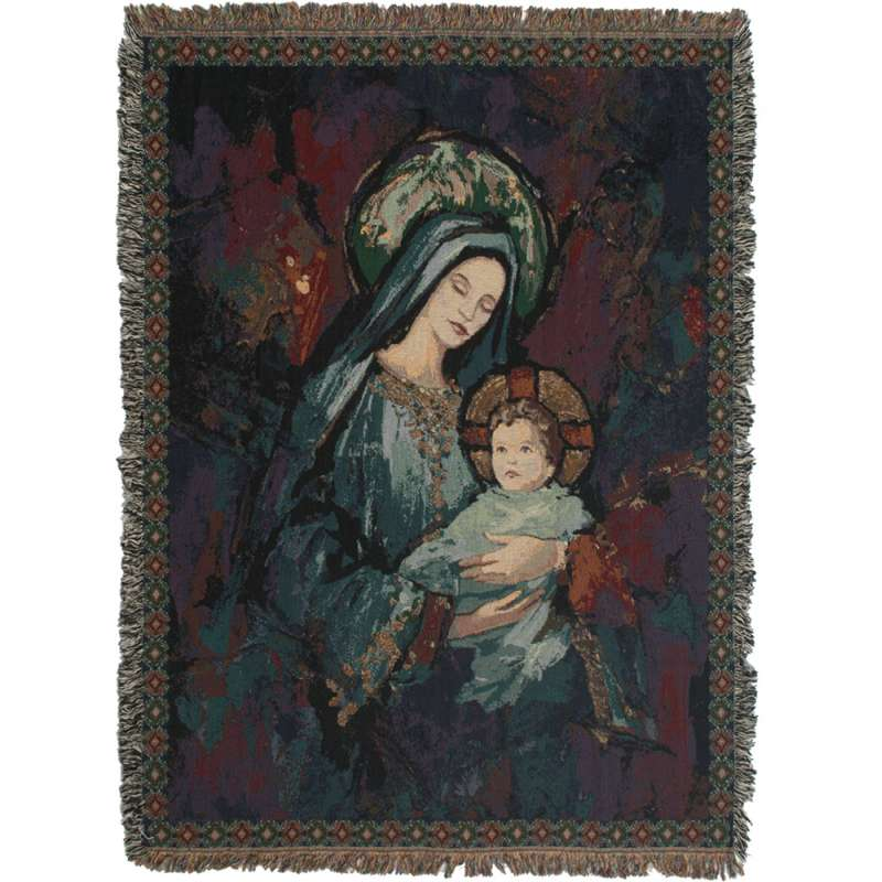 Madonna and Child III Tapestry Throw