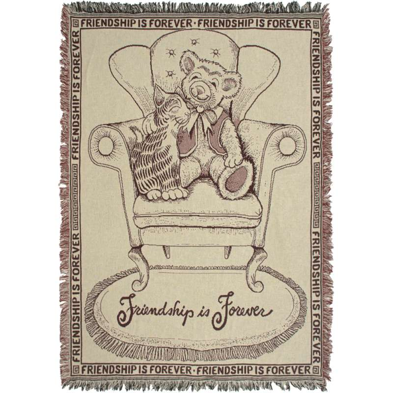 Friendship Is Forever Tapestry Throw