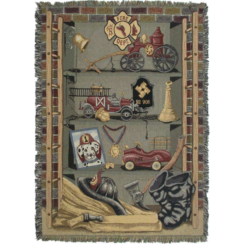 Americas Finest Fire Dept Tapestry Throw