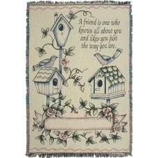 Treasured Friendship Tapestry Throw