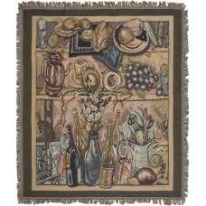 Wine Parlor Still Life Tapestry Throw